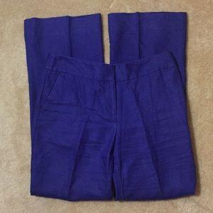 👖Loft Purple Linen Pants - Size 8